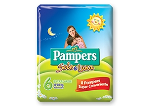PAMPERS SOLE E LUNA EXTRALARGE