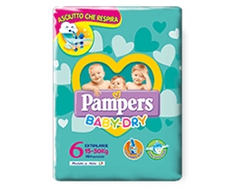 PAMPERS BABY DRY EXTRALARGE